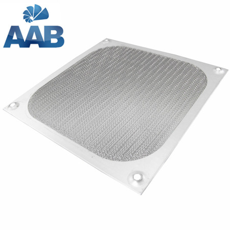 AAB Cooling Aluminiowy Filtr/Grill 120 silbern