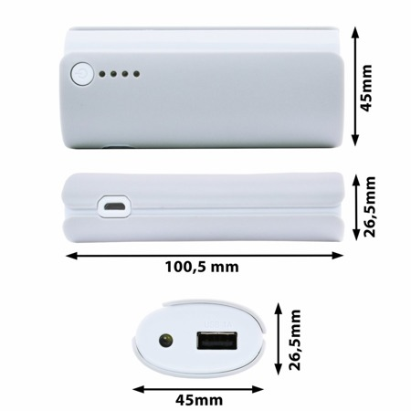 NonStop PowerBank Ammo Grau 5200mAh